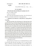 Bài thu hoạch Kết quả học tập Nghị quyết hội nghị Trung ương 4 khóa XII