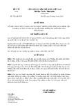 Quyết định số 3201/QĐ-BYT