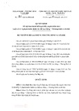 Quyết định số 382/QĐ-LĐTBXH