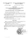 Quyết định số 336/QĐ-LĐTBXH