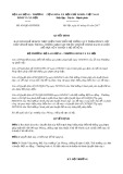 Quyết định số 636/QĐ-LĐTBXH