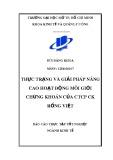 Báo cáo tốt nghiệp: Thực trạng và giải pháp nâng cao hoạt động môi giới chứng khoán tại CTCP CK Rồng Việt – Hội sở TPHCM