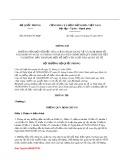 Thông tư số 85/2010/TT-BQP