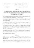 Quyết định số 3728/QĐ-BCT