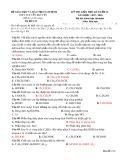 Đề thi giữa HK 2 môn Hóa học lớp 12 năm 2017-2018 - THPT Nguyễn Khuyến - Mã đề 123