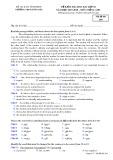 Đề kiểm tra HK 1 môn tiếng Anh lớp 10 năm 2017-2018 - THPT Đồng Đậu - Mã đề 204