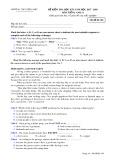 Đề kiểm tra HK 1 môn tiếng Anh lớp 11 năm 2017-2018 - THPT Đồng Đậu - Mã đề 104