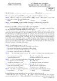 Đề kiểm tra HK 1 môn tiếng Anh lớp 10 năm 2017-2018 - THPT Đồng Đậu - Mã đề 105