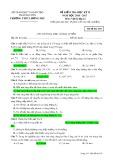 Đề kiểm tra HK 2 môn Vậtlý lớp 12 năm 2016-2017 - THPT Lương Phú - Mã đề 430