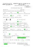 Đề kiểm tra HK 2 môn Toán lớp 12 năm 2016-2017 - THPT Lương Phú - Mã đề 255