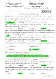 Đề kiểm tra HK 2 môn Vậtlý lớp 12 năm 2016-2017 - THPT Lương Phú - Mã đề 433