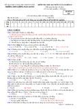 Đề kiểm tra HK 1 môn Vật lí lớp 10 năm 2017-2018 - THPT Lương Ngọc Quyến - Mã đề 209