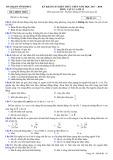Đề thi khảo sát kiến thức THPT năm 2017-2018 môn Vật lí lớp 12 - Sở GD&ĐT Vĩnh Phúc - Mã đề 111