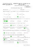 Đề kiểm tra HK 2 môn Toán lớp 12 năm 2016-2017 - THPT Lương Phú - Mã đề 250
