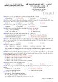 Đề thi thử ĐH đợt 3 năm 2017 môn Hóa học - THPT Trần Hưng Đạo - Mã đề 214