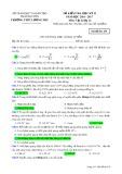 Đề kiểm tra HK 2 môn Vậtlý lớp 12 năm 2016-2017 - THPT Lương Phú - Mã đề 435