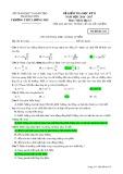 Đề kiểm tra HK 2 môn Vậtlý lớp 12 năm 2016-2017 - THPT Lương Phú - Mã đề 432