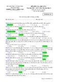 Đề kiểm tra HK 2 môn Hóahọc lớp 12 năm 2016-2017 - THPT Lương Phú - Mã đề 433