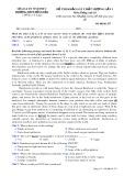 Đề thi khảo sát chất lượng lần 1 môn tiếng Anh lớp 10 - THPT Đồng Đậu - Mã đề 257
