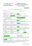 Đề kiểm tra HK 2 môn Hóahọc lớp 12 năm 2016-2017 - THPT Lương Phú - Mã đề 432