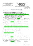 Đề kiểm tra HK 2 môn Vậtlý lớp 12 năm 2016-2017 - THPT Lương Phú - Mã đề 438