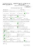 Đề kiểm tra HK 2 môn Toán lớp 12 năm 2016-2017 - THPT Lương Phú - Mã đề 258