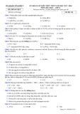Đề thi khảo sát kiến thức THPT năm 2017-2018 môn Hóa học lớp 12 - Sở GD&ĐT Vĩnh Phúc - Mã đề 210