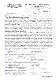 Đề thi khảo sát chất lượng lần 1 môn tiếng Anh lớp 10 - THPT Đồng Đậu - Mã đề 109