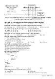 Đề thi lý thuyết bảng C1 môn Tin học tỉnh Kiên Giang năm 2015 - Mã đề 134