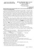 Đề thi thử ĐH đợt 3 năm 2017 môn Anh văn - THPT Trần Hưng Đạo - Mã đề 485