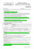 Đề kiểm tra HK 2 môn Lịchsử lớp 12 năm 2016-2017 - THPT Lương Phú - Mã đề 567