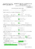 Đề kiểm tra HK 2 môn Toán lớp 12 năm 2016-2017 - THPT Lương Phú - Mã đề 256