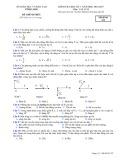 Đề kiểm tra HK 1 môn Vật lí lớp 12  năm 2017-2018 - Sở GD&ĐT Vĩnh Long - Mã đề 132