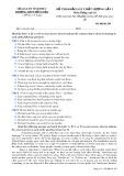 Đề thi khảo sát chất lượng lần 1 môn tiếng Anh lớp 10 - THPT Đồng Đậu - Mã đề 285