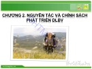 Bài giảng Du lịch bền vững (Sustainable tourism) - Chương 2: Nguyên tắc và chính sách phát triển du lịch bền vững