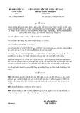 Quyết định số 2548/QĐ-BKHCN