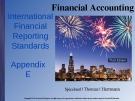 Lecture Financial accounting (3/e): Appendix E - Spiceland, Thomas, Herrmann