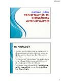 Bài giảng Tâm lý học nhận thức: Chương 5.1 - ThS. Nhan Thị Lạc An