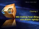 Bài giảng Quản trị học: Chương 2 - Nguyễn Đại Lương