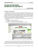 Sử dụng metabrowser để biên mục tài liệu điện tử