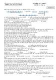 Đề kiểm tra 1 tiết môn Sinh học lớp 12 - THPT Buôn Ma Thuột - Mã đề 483