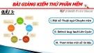 Bài giảng Kiểm thử phần mềm: Bài 3