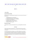 Bộ 15 đề thi HK 1 môn tiếng Việt lớp 3