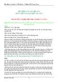Đề cương ôn thi HK 1 môn Ngữ văn năm học 2011-2012