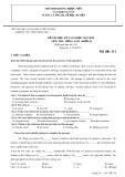 Đề kiểm tra HK 1 môn tiếng Anh lớp 10 năm 2017-2018 - THPT Trần Hưng Đạo - Mã đề 111