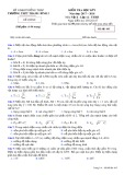 Đề kiểm tra HK 1 môn Vật lí lớp 12 năm 2017-2018 - THPT Thanh Bình 2 - Mã đề 485