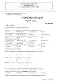 Đề kiểm tra HK 1 môn tiếng Anh lớp 10 năm 2017-2018 - THPT Trần Hưng Đạo - Mã đề 444