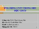 Bài giảng Ứng dụng công nghệ thông tin trong dạy học GDCD: Chương 1 -  Thiều Thanh Quang Phú