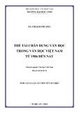 Tóm tắt luận án Tiến sĩ Văn học: Thể tài chân dung văn học trong văn học Việt Nam từ 1986 đến nay