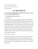 Bài tập Chính trị - ĐH Cần Thơ